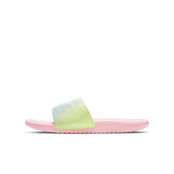 Boys Preschool Nike Nike Kawa Slide - Boys' Preschool Shoe White/Pink/Blue Size 03.0 - CW1656-600