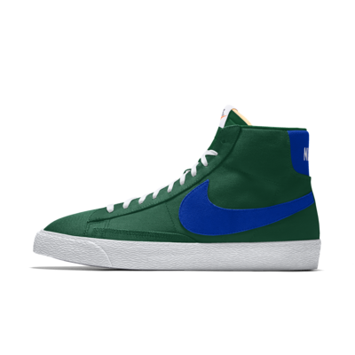 Chaussure personnalisable Nike Blazer Mid By You pour Homme - Vert ...