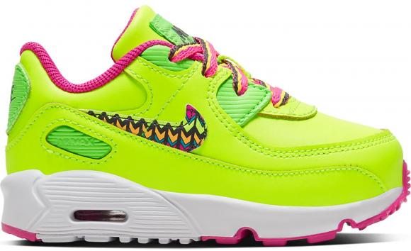 Nike Air Max 90 Volt Fire Pink Green Strike (TD) - CW5798-700