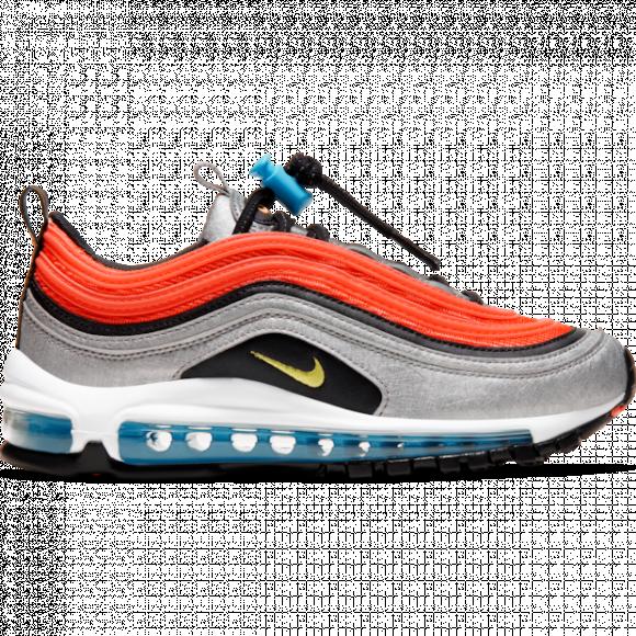 Boys Nike Nike Air Max 97 - Boys' Grade School Shoe Metallic Silver/Speed Yellow/Black Size 07.0 - CW6012-001