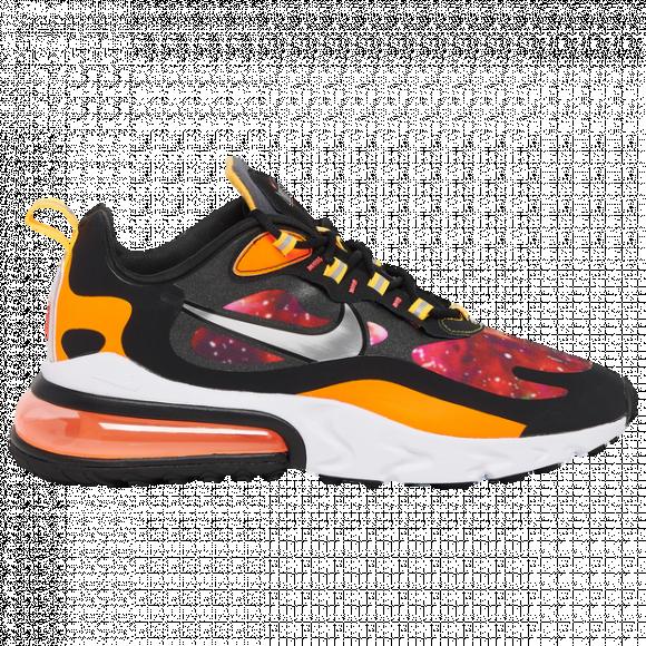 Nike Mens Nike Air Max 270 React Mens Shoes BlackMetallic SilverWhite Size 12.0