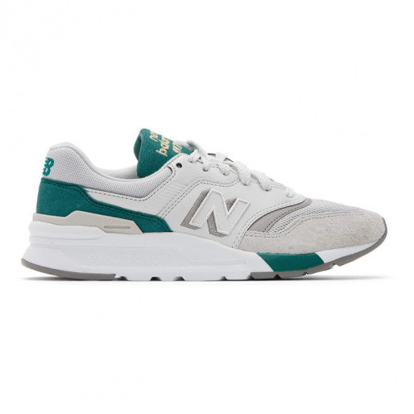 New Balance White and Green 997H Sneakers - CW997HAN