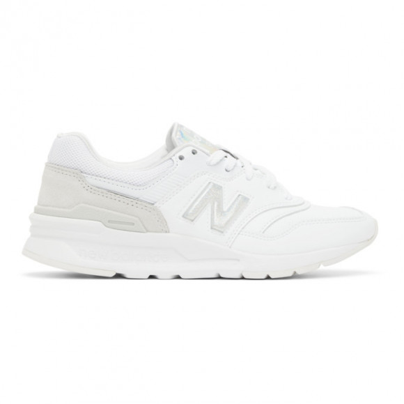 New Balance White Iridescent 997H Sneakers - CW997HBO