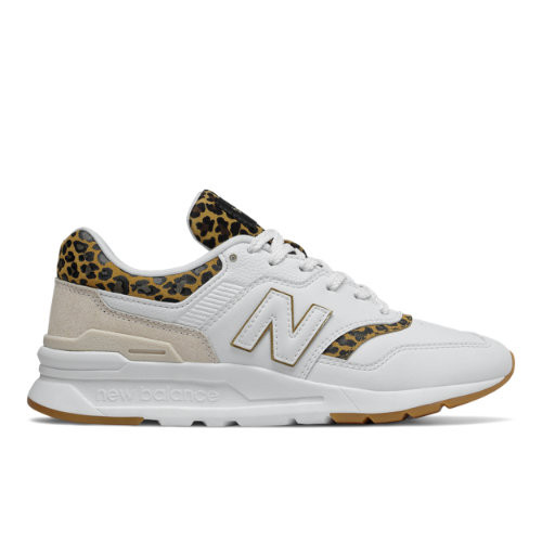 Womens New Balance 997H Athletic Shoe - White / Leopard - CW997HCJ