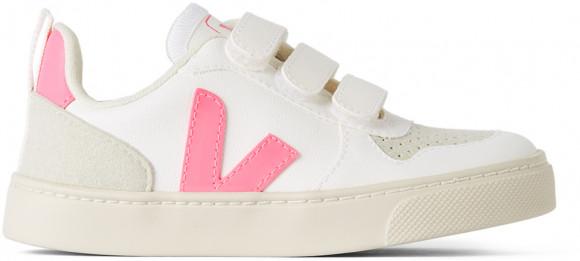 Veja Enfant   Baskets V-10 blanches et roses - CXV072410J