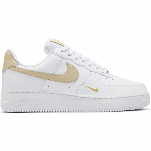 Womens Nike Air Force 1 '07 ESS White Gold WMNS Sneakers/Shoes CZ0270-105 - CZ0270-105