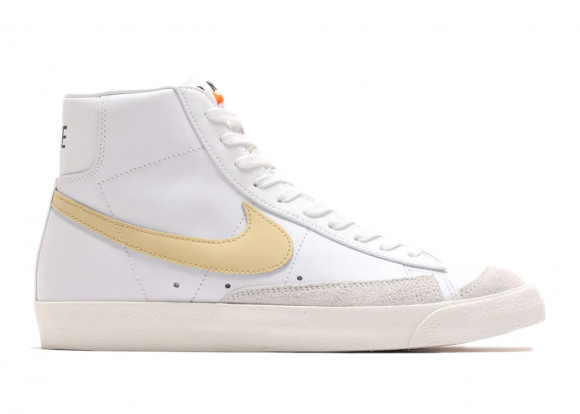 Nike Womens WMNS Blazer '77 Vintage Mid 'Hyper Crimson' White/White/Hyper Crimson/Canvas Sneakers/Shoes CZ1055-109 - CZ1055-109