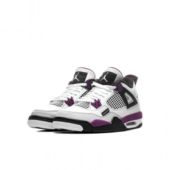 Boys Jordan Jordan Retro 4 - Boys' Grade School White/Bordeaux/Neutral Gray Size 07.0 - CZ6509-100