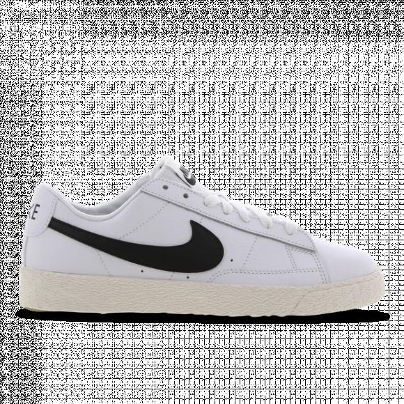 Nike Boys Nike Blazer Low - Boys' Grade School Shoes White/Black Size 04.0 - CZ7106-101