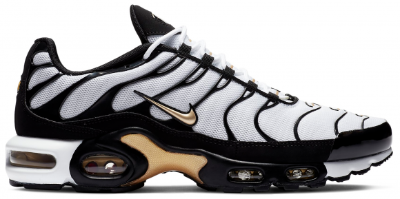 Nike Air Max Plus White Black Metallic Gold - CZ9188-001