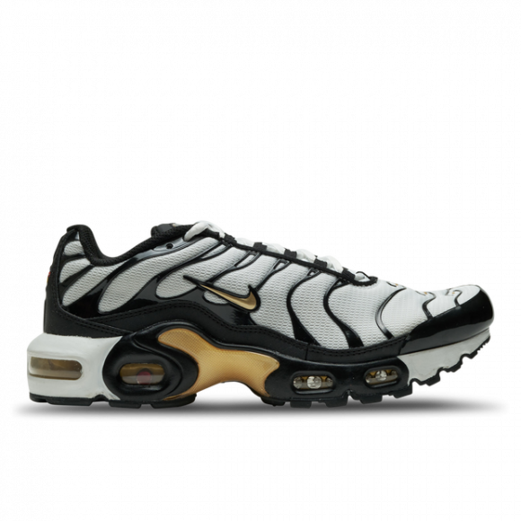 Boys Nike Nike Air Max Plus - Boys' Grade School Running Shoe Black/Metallic Gold/White Size 07.0 - CZ9196-001