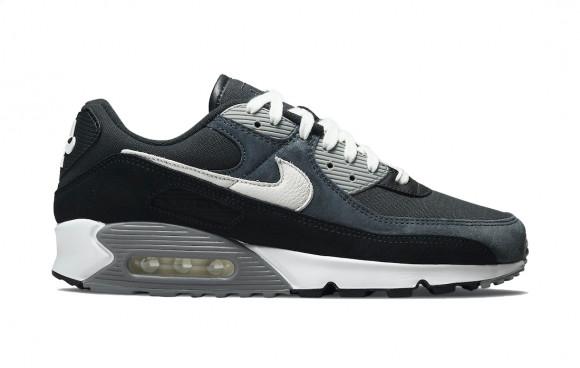 Nike Air Max 90 Premium Black Grey Canvas Suede - DA1641-003