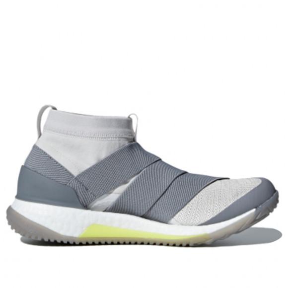 Adidas Womens WMNS PureBoost X TR 3.0 LL 'Grey' Grey One/Shock Yellow/Grey Three Marathon Running Shoes/Sneakers DA8964 - DA8964