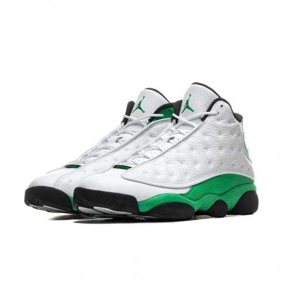 Jordan Mens Jordan Retro 13 - Mens Shoes White/Green/Black Size 09.0
