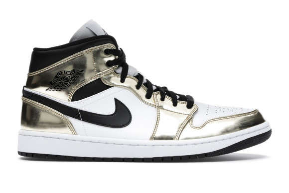 Jordan 1 Mid Metallic Gold Black White - DC1419-700