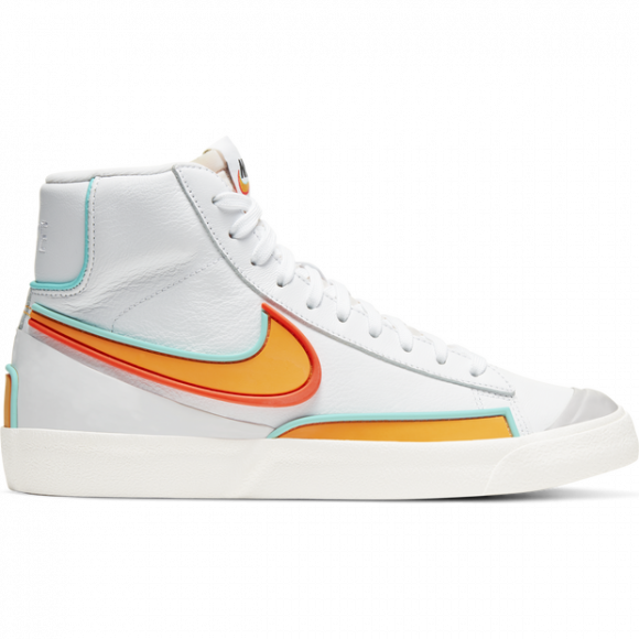 Nike Womens WMNS Blazer Mid '77 'Inifinite Kumquat' White/Aurora Green/Bright Crimson/Kumquat Sneakers/Shoes DC1746-100 - DC1746-100