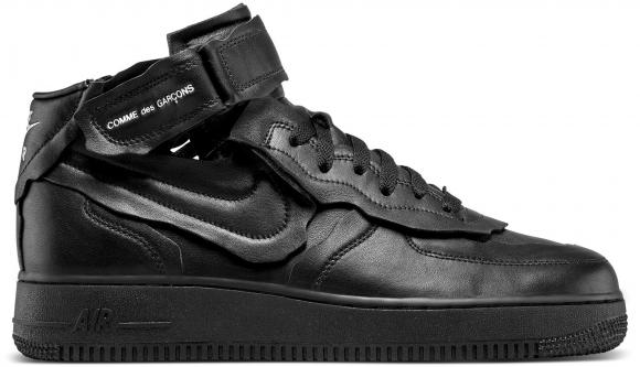 Nike Air Force 1 Mid Comme des Garcons Black - DC3601-001