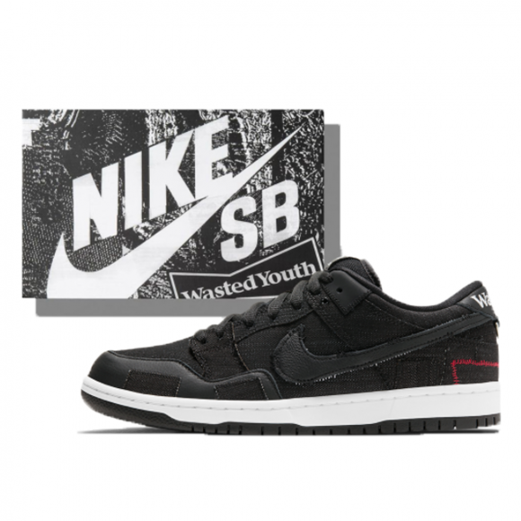 Nike SB x Wasted Youth Dunk Low Black (Special Box) (2021) - DD8386-001SP