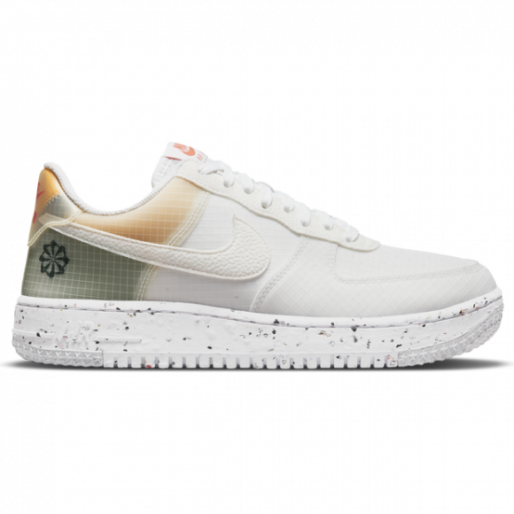 Nike Air Force 1 Crater White Orange Sneakers/Shoes DH2521-100 - DH2521-100