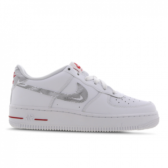 Nike Air Force 1 Low GS 'White University Red' - DJ4625-100