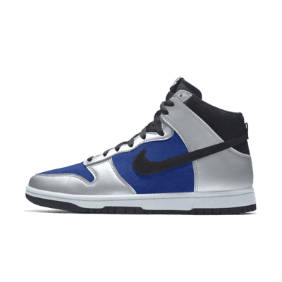 Chaussure personnalisable Nike Dunk High By You pour Homme - Bleu ...