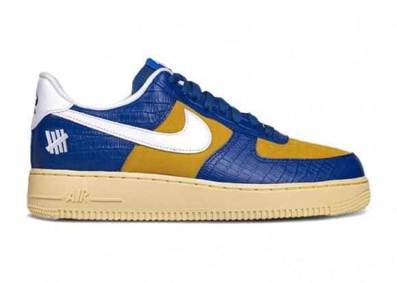 Nike Air Force 1 Low Undefeated Dunk Vs. AF1 Croc Blue Yellow - DM8462-400