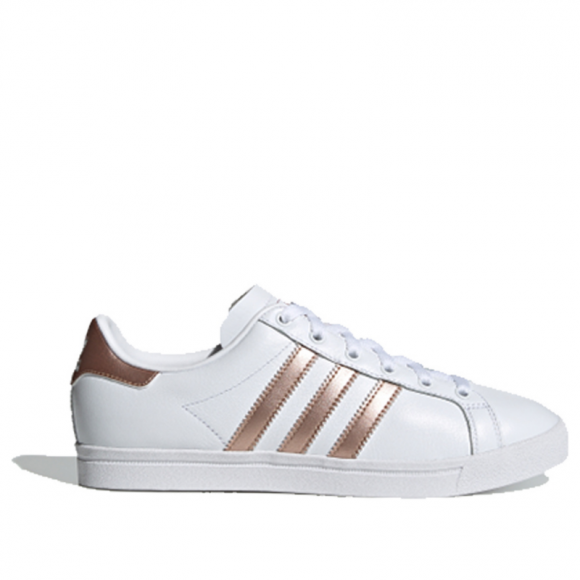 Adidas Womens WMNS Coast Star 'White Copper Metallic' Cloud White/Copper Metallic/Core Black Sneakers/Shoes EE6201 - EE6201
