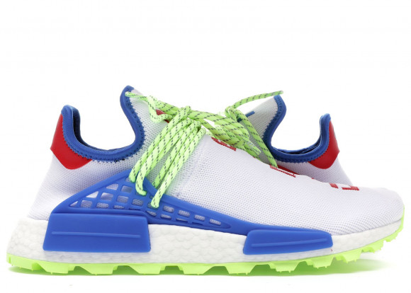 Adidas Pharrell x N.E.R.D. x NMD Human Race Trail 'Homecoming' white/blue-red Marathon Running Shoes/Sneakers EE6283 - EE6283