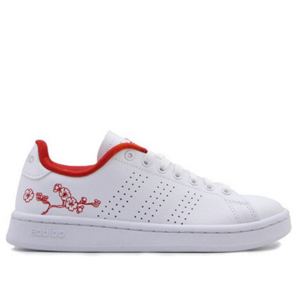 Adidas Womens WMNS Advantage 'Floral' Footwear White/Footwear White/Silver Mint Sneakers/Shoes EE6643 - EE6643