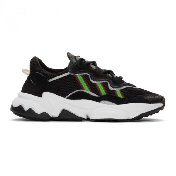 adidas Originals Womens adidas Originals Ozweego - Womens Shoes Black/Solar Green/Onix Size 10.0 - EF0158