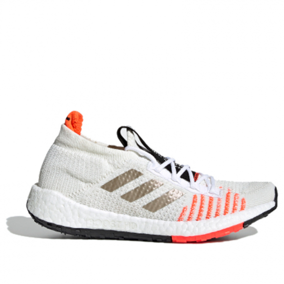 Adidas PulseBoost HD J 'White Solar Red' Core White/Cyber Metallic/Solar Red Marathon Running Shoes/Sneakers EF0914 - EF0914