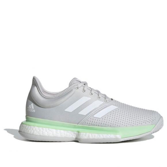 adidas SoleCourt Tennis Shoes Glow Green Womens