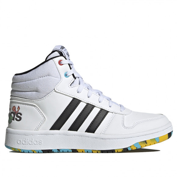 Adidas Neo Hoops Mid 2.0 K White Sneakers/Shoes EG1989