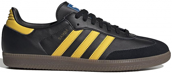 adidas Samba OG Core Black Equipment Yellow - EG9326