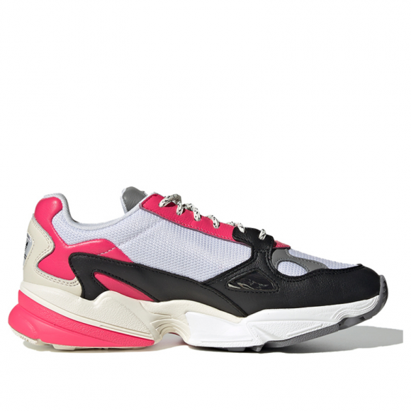 Adidas Womens WMNS Falcon Real Pink Footwear White/Real Pink Marathon Running Shoes/Sneakers EG9926 - EG9926
