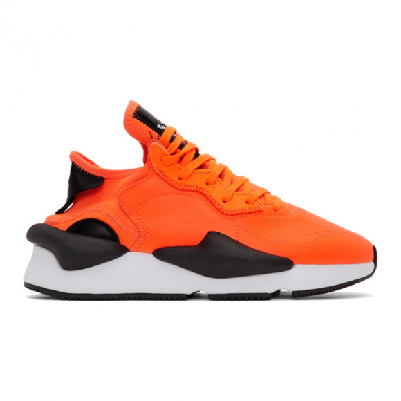 Y-3 Orange and Black Kaiwa Sneakers - EH1395