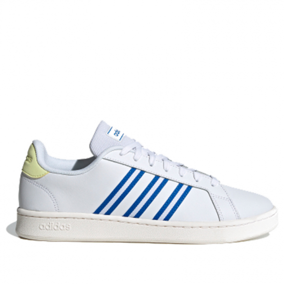 Adidas Neo Grand Court 'Glory Blue' Cloud White/Glory Blue/Yellow ...