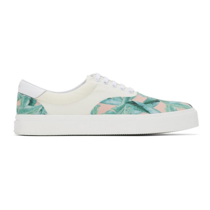 AMIRI Off-White Banana Leaf Sneakers - F0F22148CO