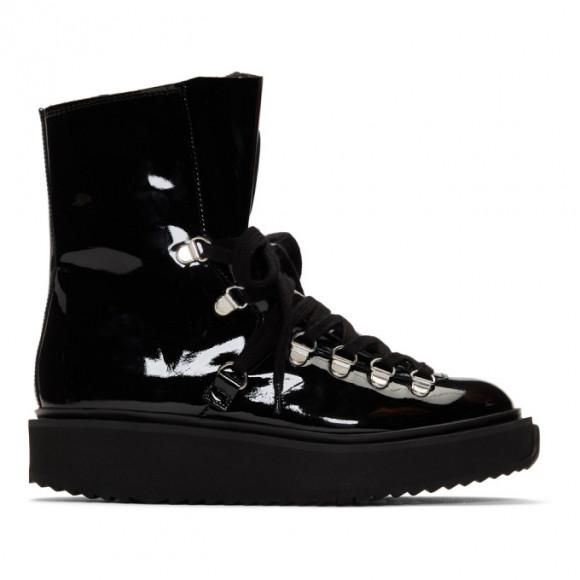 Kenzo Black Patent Alaska Boots - F862BT301L64