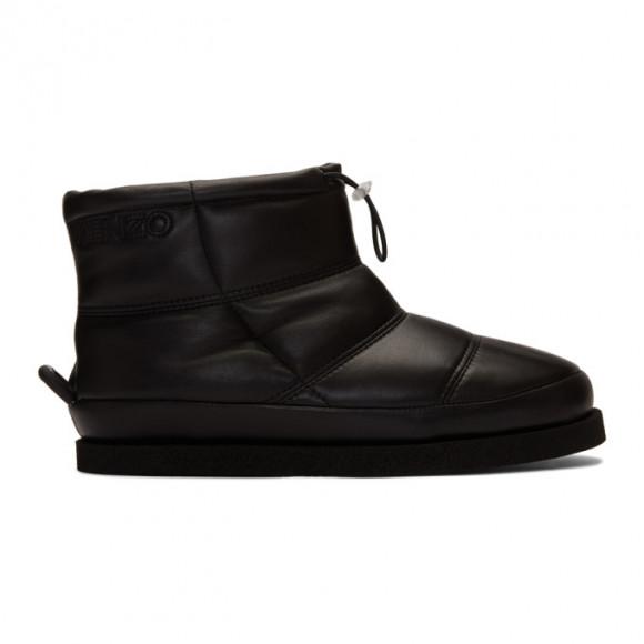 Kenzo Black Leather Kusco Boots - F962BT006L51