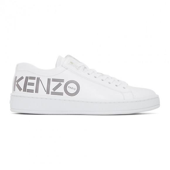 Kenzo White Tennix Sneakers - F962SN129L71