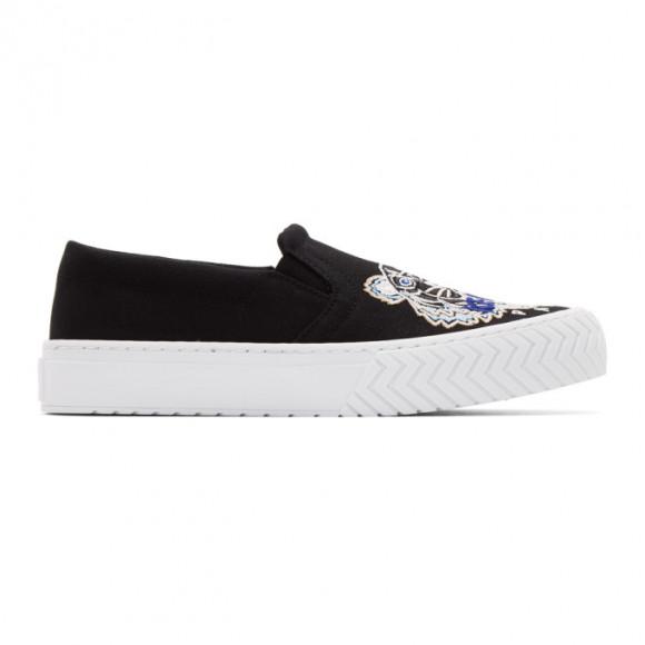 Kenzo Black Tiger K-Skate Slip-On Sneakers - F962SN200F70