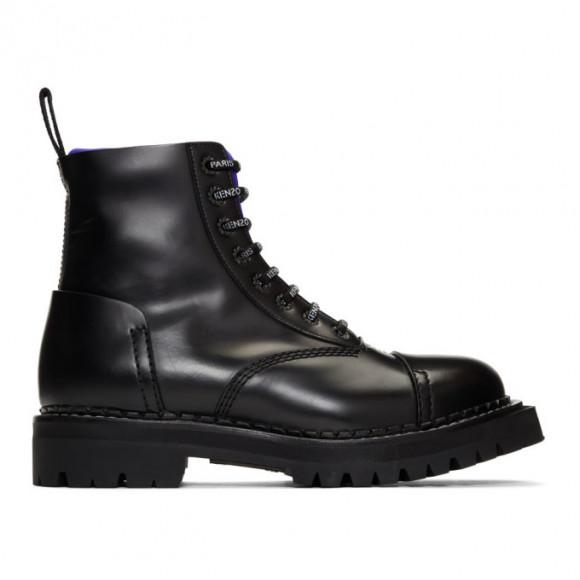 Kenzo Black Kamden Lace-Up Boots - F965BT001L59