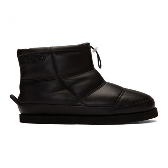 Kenzo Black Leather Kusco Boots - F965BT006L51