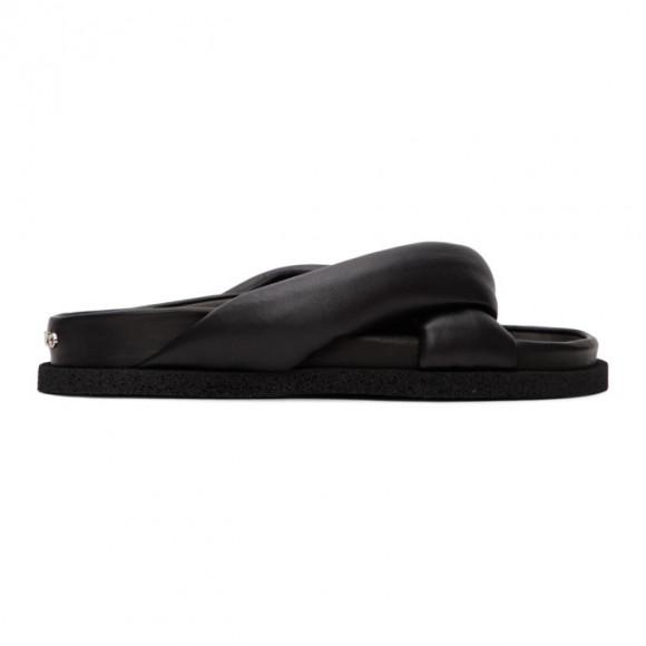Kenzo Black Komfy Thong Flat Sandals - FA52MU007L51