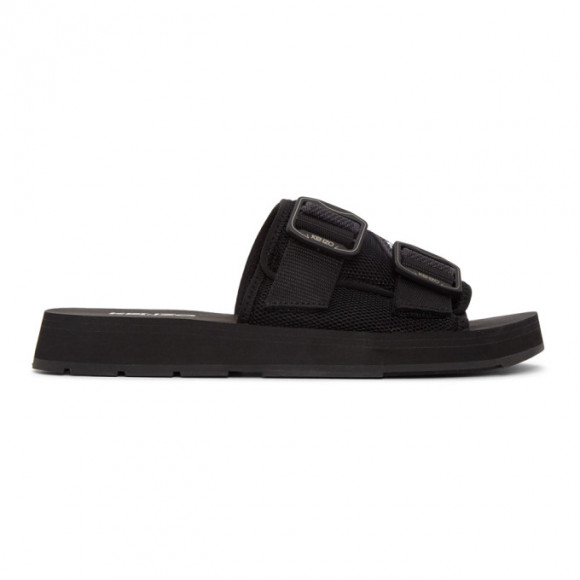 Kenzo Black Papaya Mule Sandals - FA52MU255F51