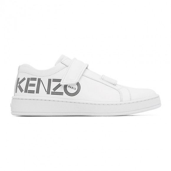 Kenzo White Tennix Velcro Sneakers - FA52SN239L71