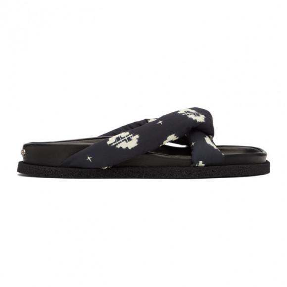 Kenzo Black Ikat Komfy Flip Flops - FA55MU007F78