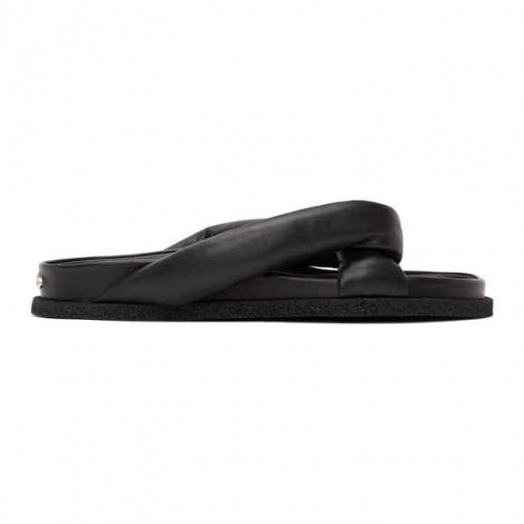 Kenzo Black Nappa Komfy Slides - FA55MU007L51