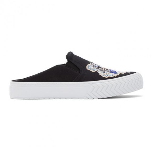 Kenzo Black Tiger Head K-Skate Mule Slip-On Sneakers - FA55SN202F70